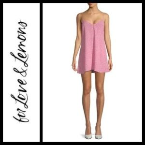 For Love And Lemons Twinkle Watermelon Slip S NWT